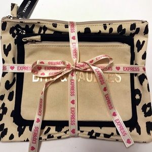 🎅NWT Cosmetics Bags from Express